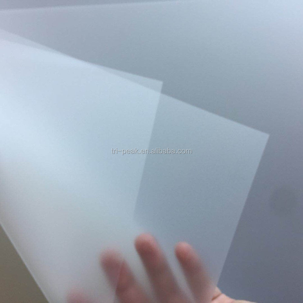 Special Deal on March expo season 100micron PET film anti-static cold peel matt finished heat transfer printing PET film