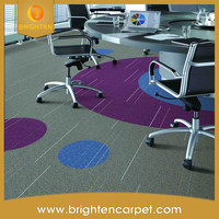 Decorative thick multi-level loop 100% nylon 66 carpet tiles