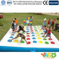 Funny Family Inflatable Twister Games Inflatable Sports Games For Sale