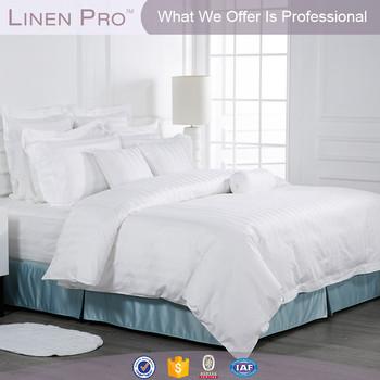 Trade Assurancehotel Stripe Bed Sheets Turkey,hotel Bed Linen 3 Cm Stripe  White,china