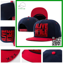 New fashion top quality 5 panel 3D embroidery adjustable snapback cap bulk simple snapback cap