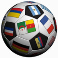 soccer ball with flags printing, football for country