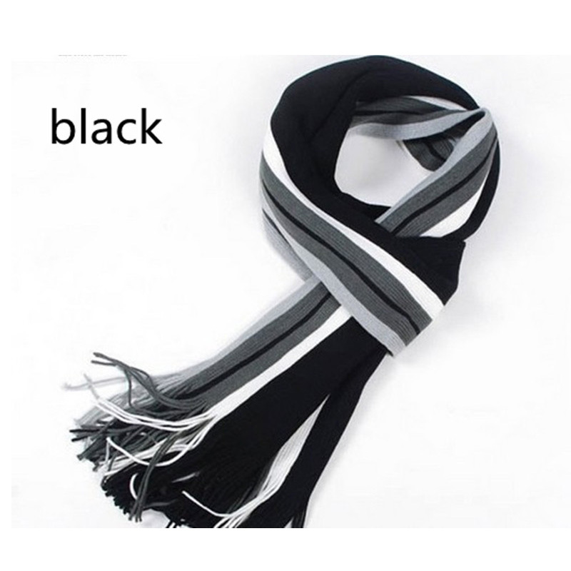 New arrival cheap price high quality wool knitting design men's winter warm scarf