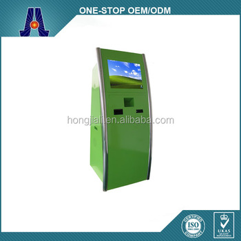 single touch screen monitor parking payment kiosk with bar code scanner and web camera (HJL-3368ZA)