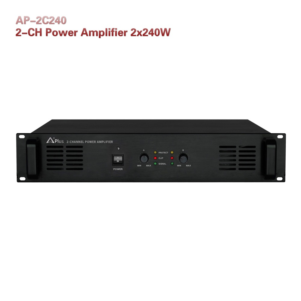 AP-2C240 Sound system 2-CH rare power amplifier 240w per channel Aplus PA
