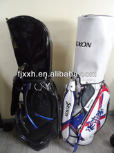 outdoor leisure custom made leather PU portable golf bag with wheel
