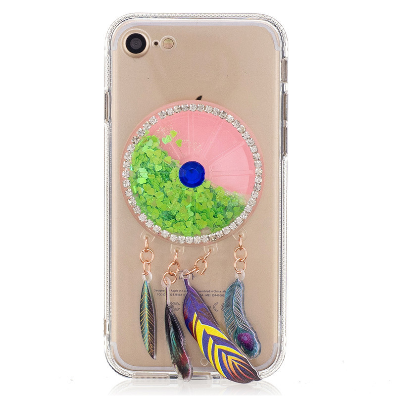 Wind chimes liquid glitter for iphone 6s case smartphone use quicksand candy color cartoon design for iphone 6 case
