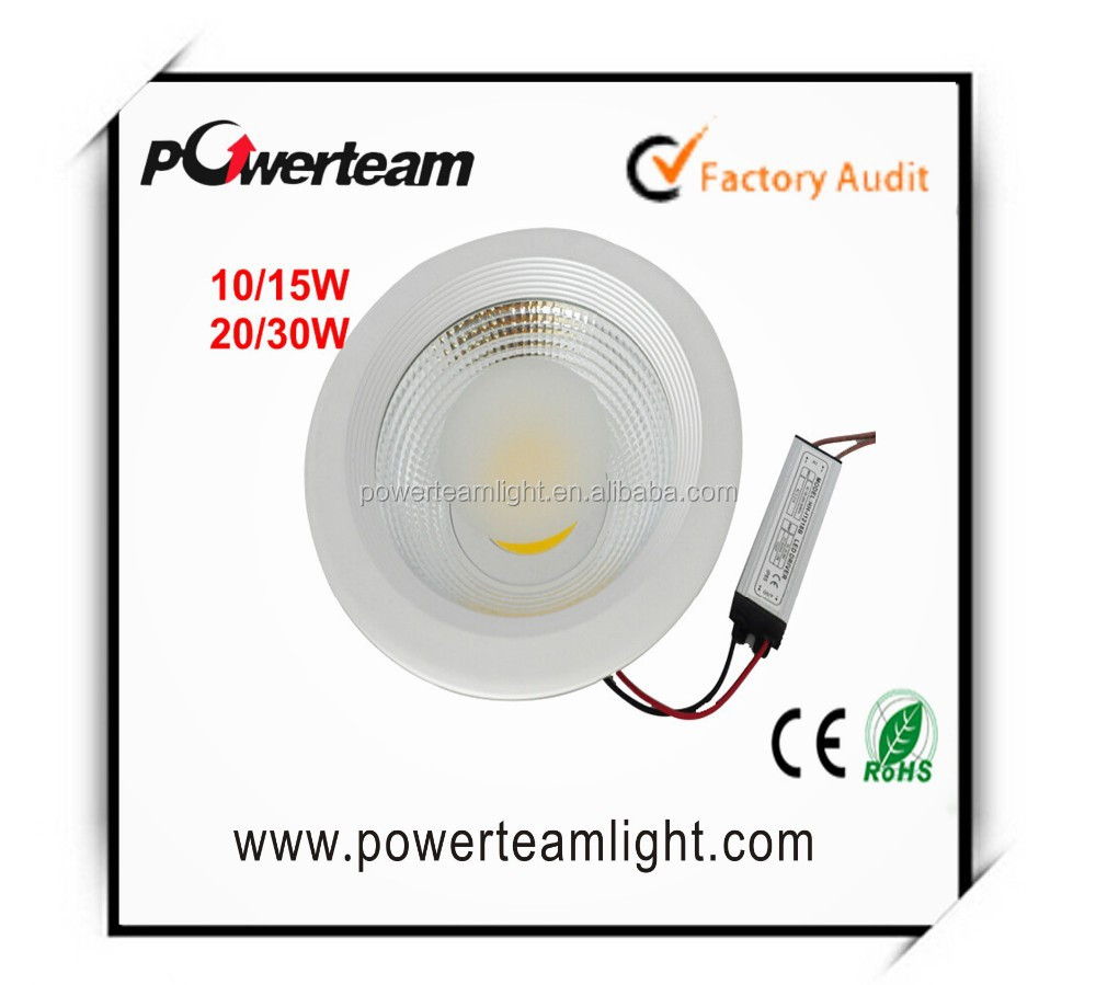 COB LED Down Light 3 Colors in 1 Controllable with Switch High Lumen High CRI