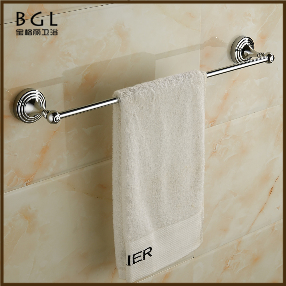22124 luxury brass chrome plated towel holder single towel bar