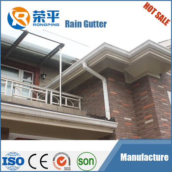 Alibaba PVC roof rain gutter with high quality/ hot selling rain gutters downspout