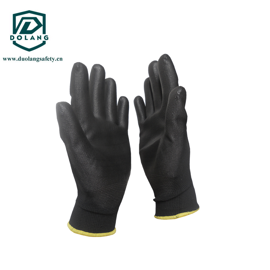 2016 new design Hppe Shell PU Coated Cut-Resistance Safety Work Glove