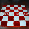 white and red polyester shaggy martial arts tatami mats