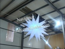 Wholesale hanging inflatable star inflatable light balloon