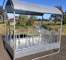 Hot Dip Galvanized Square Cattle Hay Feeder Round Horse Sheep Bale Hay Feeder With Tray