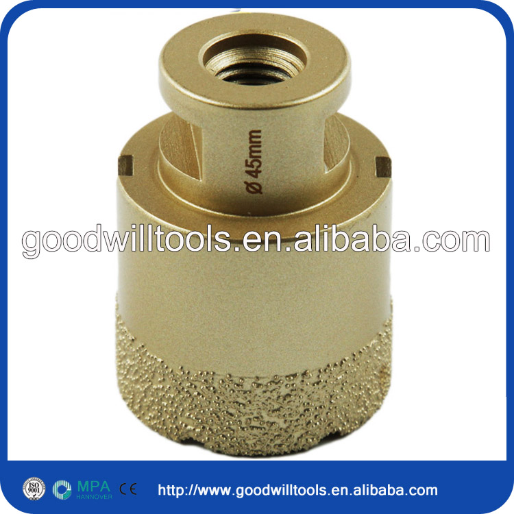 Excellent 20mm M14 Vacuum brazed diamond tip core drill bit for wet drilling