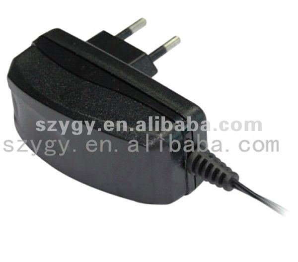 12V1A switching mode power adapter with EUR plug