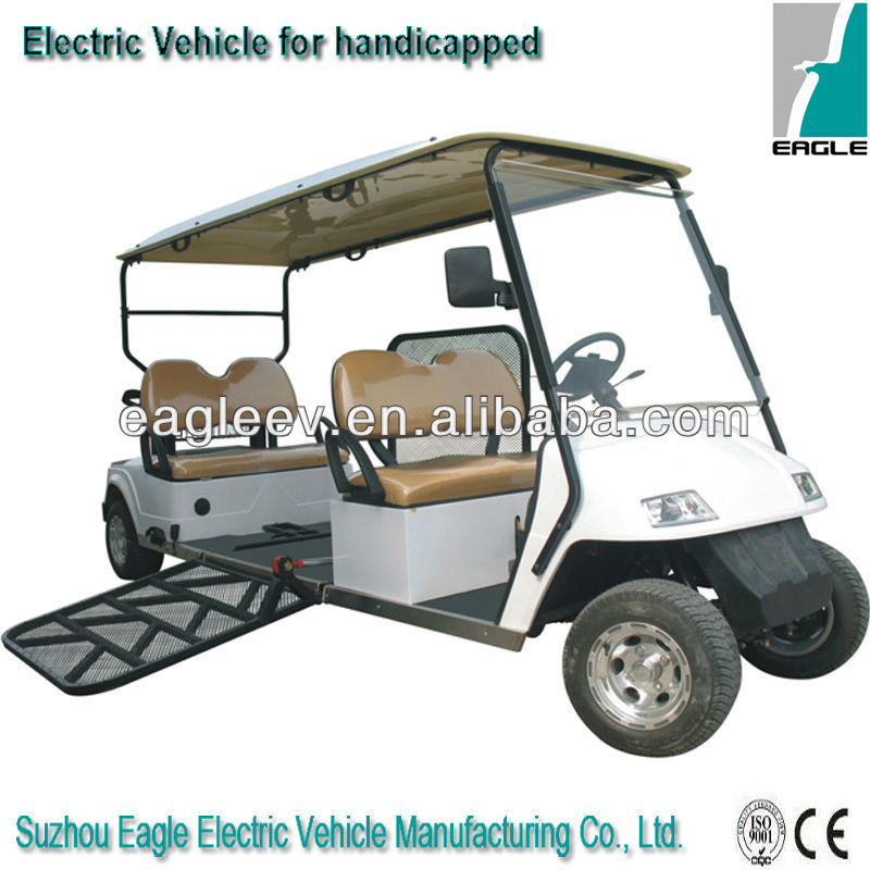 Special electric sightseeing golf carts for disabled, EG2068T