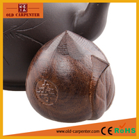 Longevity Peach carving wooden home office ormanet