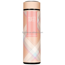 popular fashion grid design vacuum thermos bottle for winter