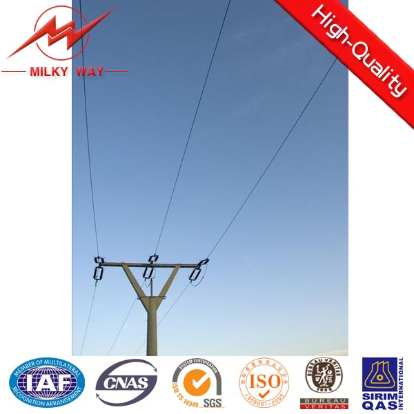 galvanized steel electric pole utility pole for powerful distribution line