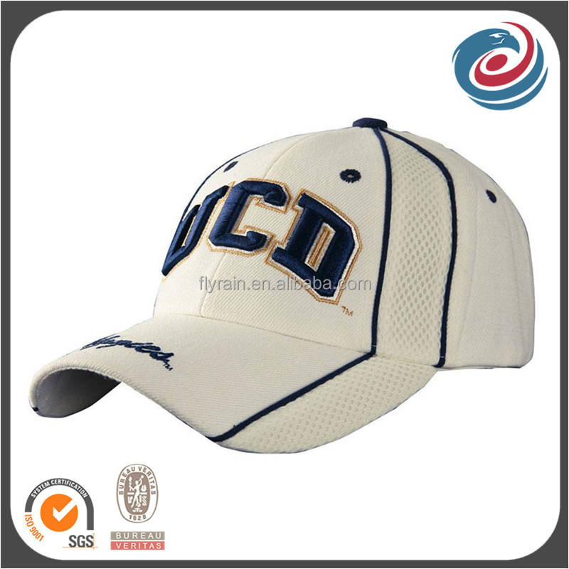 new designed sandwich mesh matching cotton twill golf caps and hats