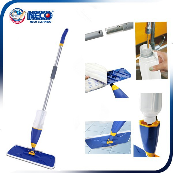 Household Cleaning magic spray mop with scouring pad