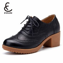 newfashioned kitten heels original leather oxford shoes calzado mujer Chinese traditional shoes
