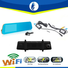"Wireless No interference 4.3"" WiFi Transceiver High Definition Dual Camera FHD1080P Car Dashcam Video Car DVR Recorder"