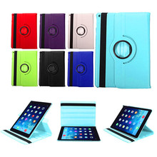 360 Rotating PU Leather Flip Stand Swivel Magnetic Solid Smart Case Cover Universal for iPad Air 2 for iPad 9.7'' Tablet Series