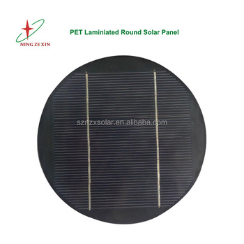 153mm Diameter 3V 766mA PET Laminated Round Solar Panel