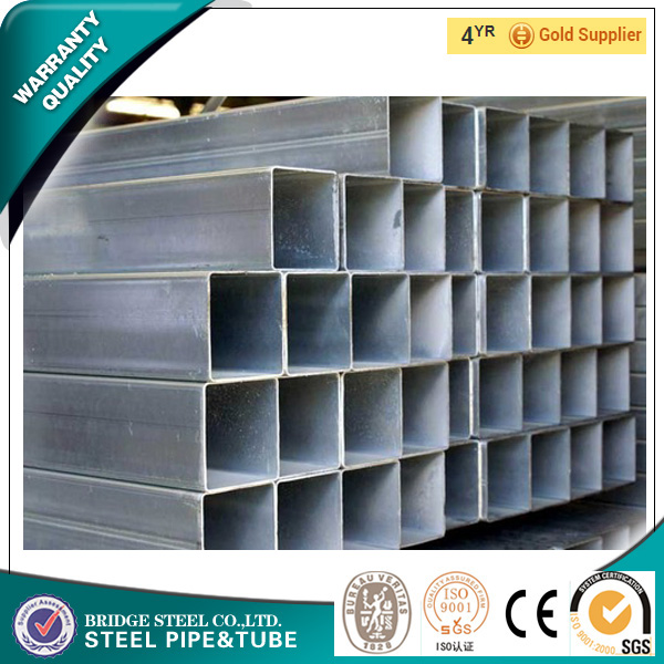 25*50 Hot Dipped Galvanized Steel Square Pipe from china supplier