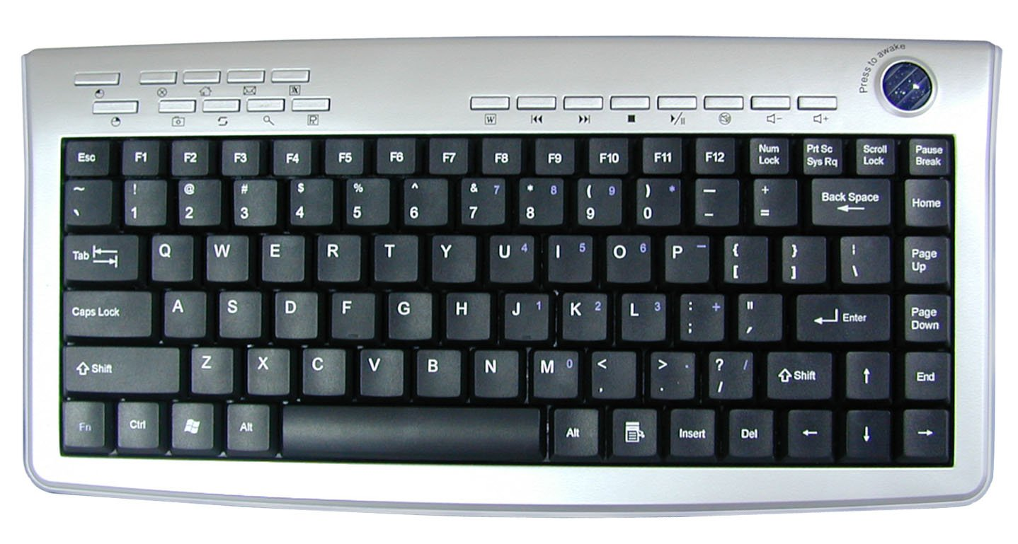 Wireless Keyboard With Optical Trackball (Rechargeable)
