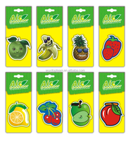 cotton paper air fresheners for car with fruit style