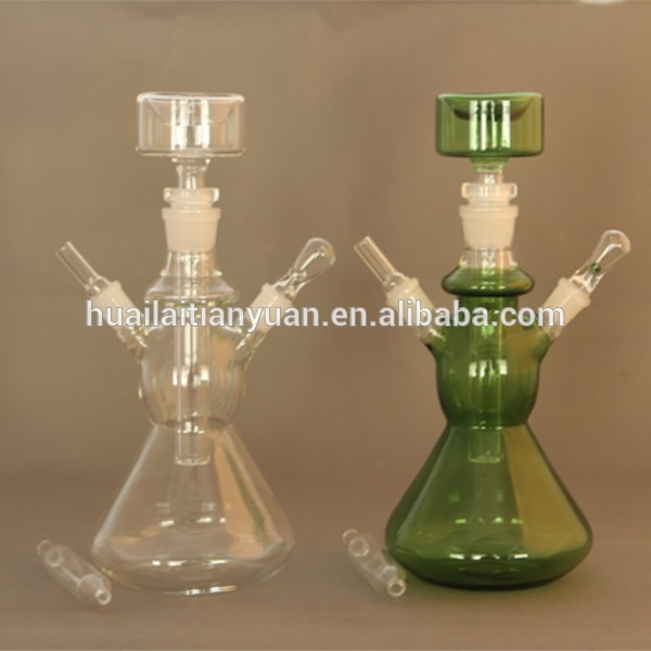 2015 Hot sell factory in China borosilicate colored clear hookah glass crystal