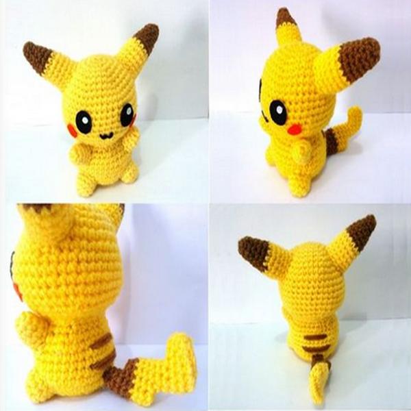 Pikachu Pokemon Character Free Amigurumi Crochet Doll ...