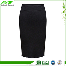 Customized cheap ladies designer suits black mini skirt