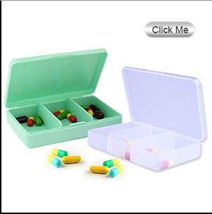 FDA colorful 7 days pill case plastic pill box