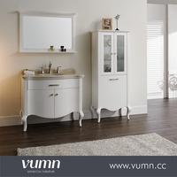 VUMN freestanding natural marble countertop post-modern bathroom cabinet