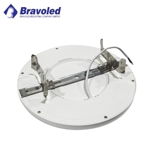 Hot cETL/ETL ES Dimmable Surface Mounted LED Ceiling Light Aluminum Housing 6w 12w 18w 24w Round LED Troffer Panel Light