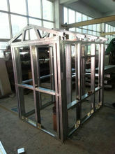 steel house mold with stud and track