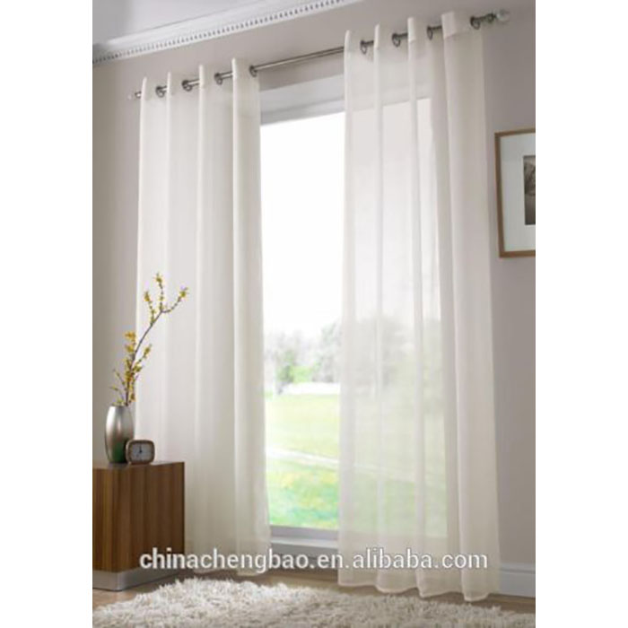 Indian silk style white sheer curtain material with sheer curtains
