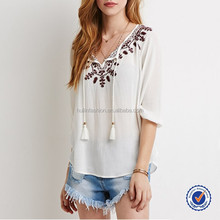 indian clothing wholesale embroidered blouse for middle aged women latest design ladies linen blouses