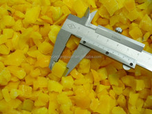 Chinese Capsicum Yellow Pepper Frozen Pepper cube/ dice