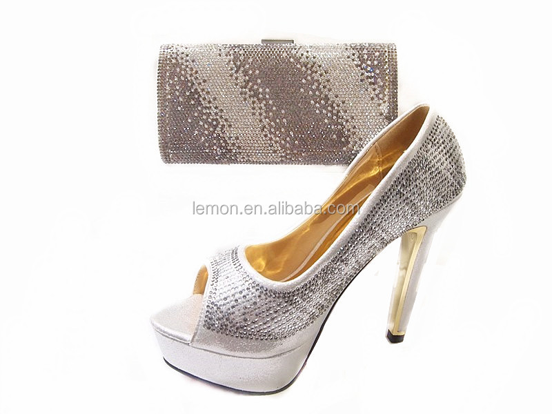 Lastest fashion design Italian matching shoes and bags