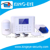 Strong function home security alarm unit with LCD touch panel and wireless magnetic sensor