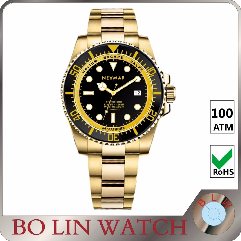 automatic diver wristwatch, design your own watch, luxury brand watches men