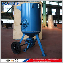 Portable sandblasting machine with Rubber wheel and blasting hose