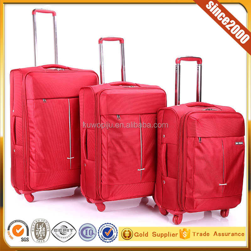 new polyester 1680D fabric upright luggage trolley carry case