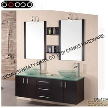 DOMO 1354# double sink bathroom mirror cabinet with light