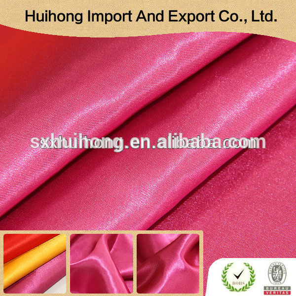 China Wholesale Factory Commercial cheap Soft handle Wholesale Polyester Satin Fabric